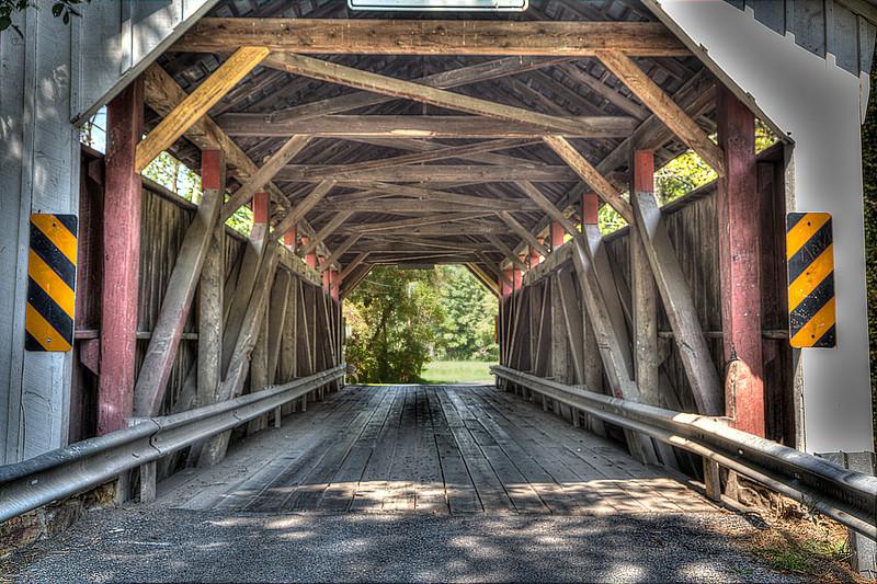 Factory Horsham Covered Bridge in Pennsylvania.