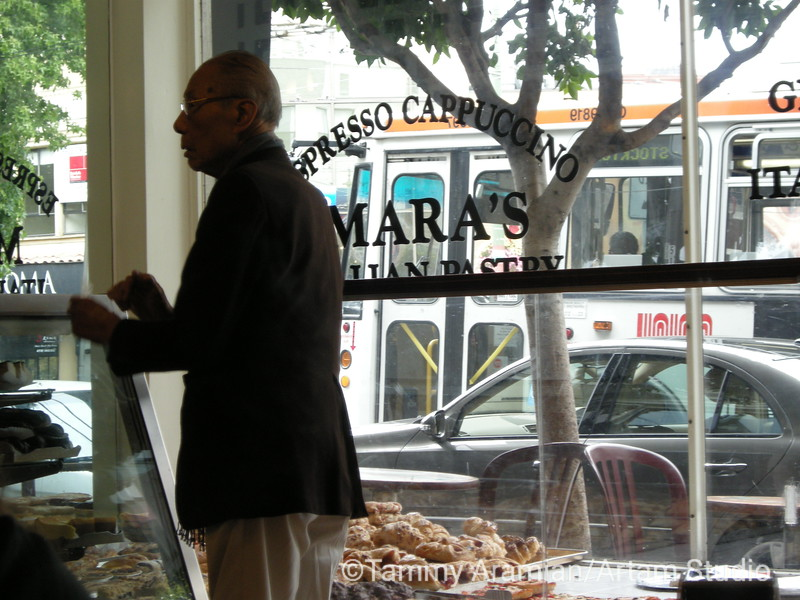 San Francisco in a nutshell #1: Chinese man buys pastry from Italian baker, July 2009.