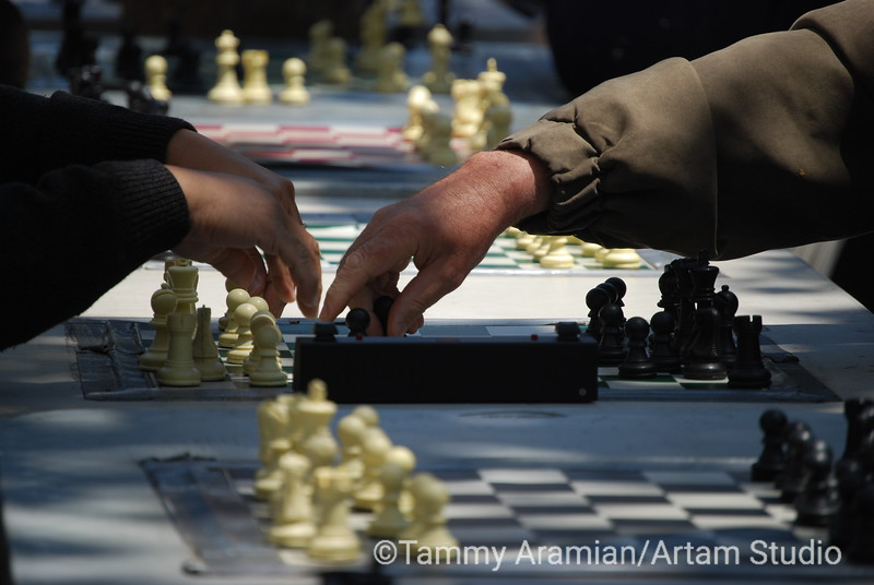 Chess players, Market Street, San Francisco 2008