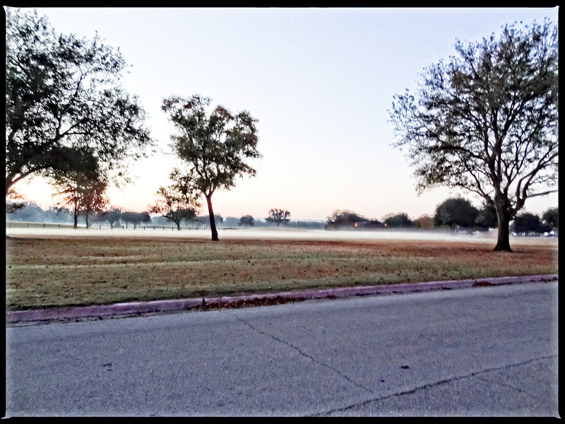 DSC00837-11-11-Edited with perfect effects.  Tinkered with image  in attempt to  emphasize the dew line at golf course but did not find a workable solution for highlighting the low lying fog