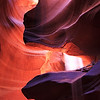 Glowing Canyon,<br /> Antilope Canyon, AZ