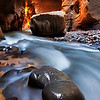 The Lights of the Narrows,<br /> Zion National Park, Utah.