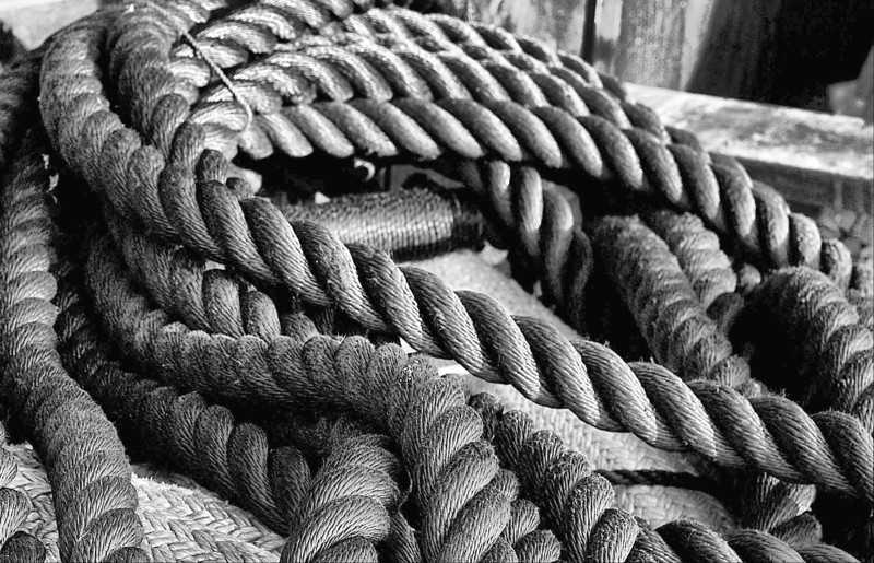 Old fishing rope, Pickering Wharf, Salem, MA