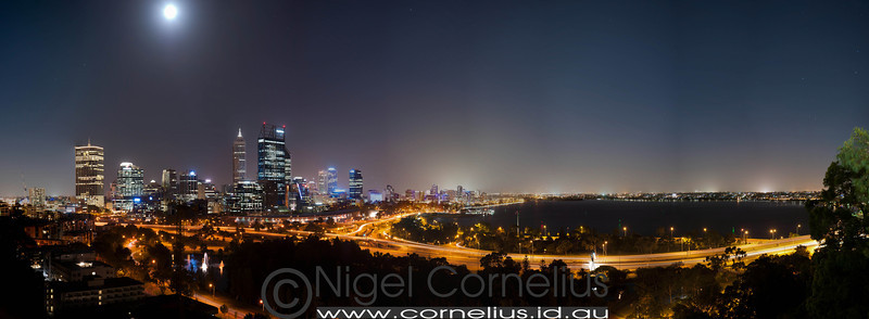 Full Moon Over Perth City