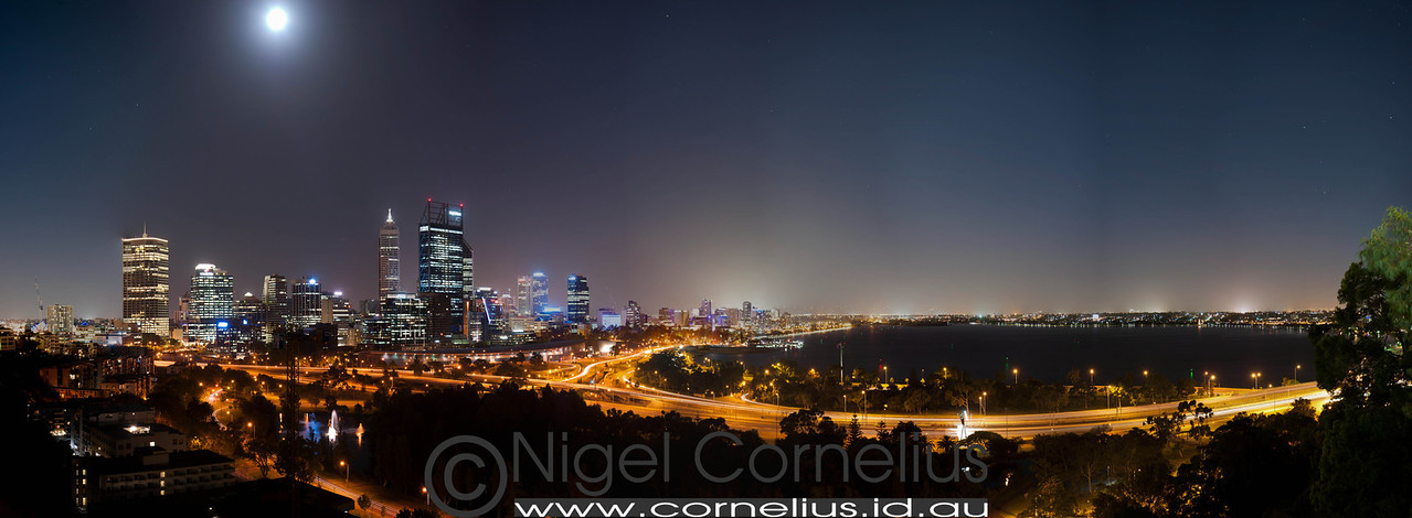 Full Moon Over Perth City