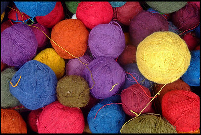 Colorful Llama Wool