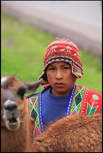 Peruvian Boy in Traditional Clothing