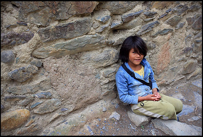 Smiling Peruvian Girl, Ollantaytambo Ruins