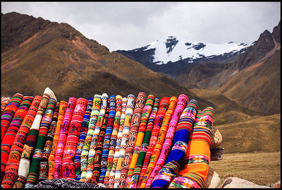 Colorful Peruvian Knittings and Snow-capped Mountains, La Raya  La Raya is at the border between the departments of Cusco and Puno. It is the highest point traveling from Cusco to Puno, at altitude 4,313m (14150ft).