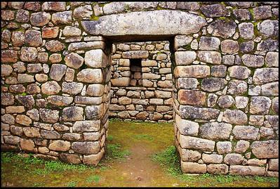 The Gate, Inca Ruins at Machu Picchu