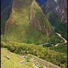 Terraces, Mountains, and Urubamba (Vilcanota) River, view from Machu Picchu