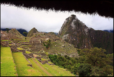 View of Machu Picchu and Huayna Picchu, from East Storage Depot