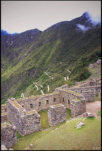 The Winding Road from Aguas Calientes to Machu Picchu, Viewed from Machu Picchu