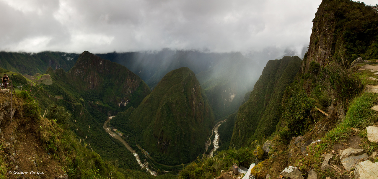 View from the hike to the gate of the sun - almost from the top.