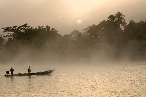 Fishermen on the Amazon