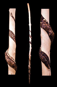Twin Snakes Walking Stick ~ A Gift from Pete!