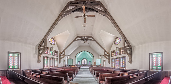 Vertical Wide Panorama in HDR of the Trinity Episcopal Church in Antrim, PA. Now owned by Pete Gorda