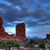 We went to Balanced Rock for sunset but again it was cloudy.  We stayed well after dark doing light painting.