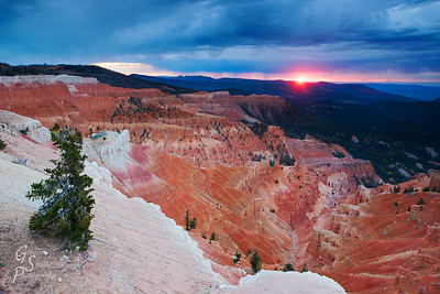 End of a Stormy Day at Cedar Breaks
