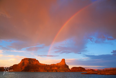 Rainbow over Gunsight Butte