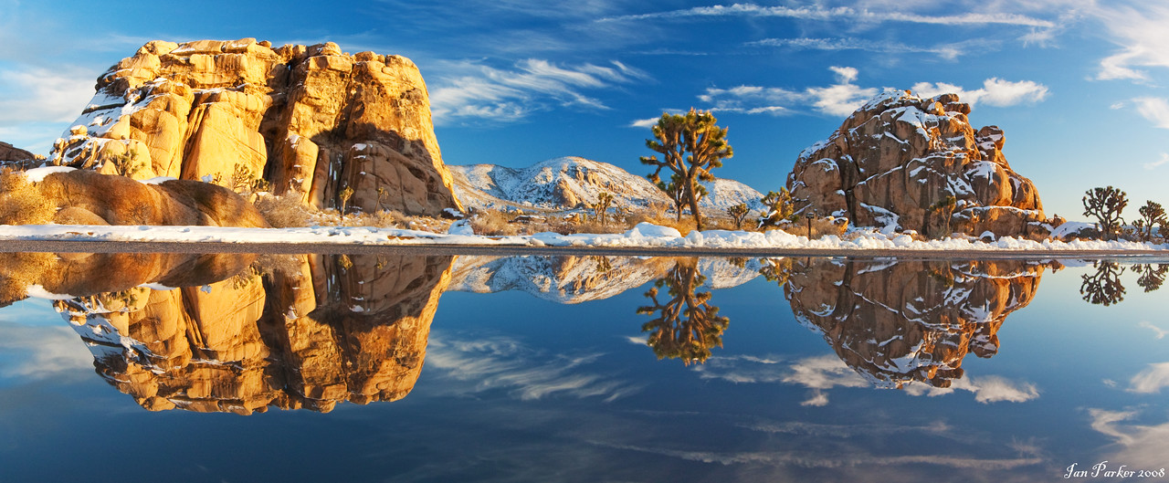 Winter reflections: Joshua Tree National Park<br /> <br /> NOTE- panorama; select 12 x 29 inch sixe