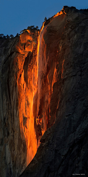 "Horsetail Falls ""firefall"": Yosemite National Park, California<br /> Select 12 x 24 panorama size to print"