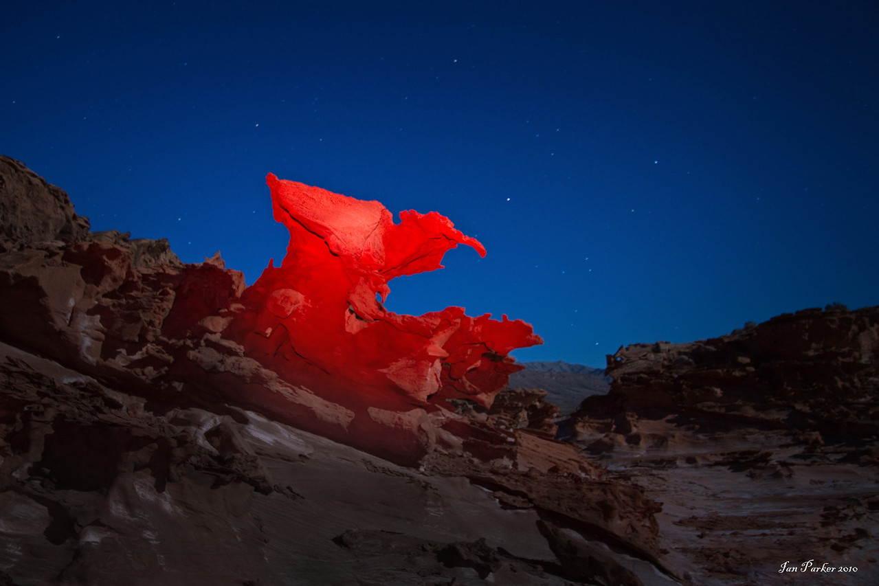 The Raptor stalks at night: Little Finland, Nevada