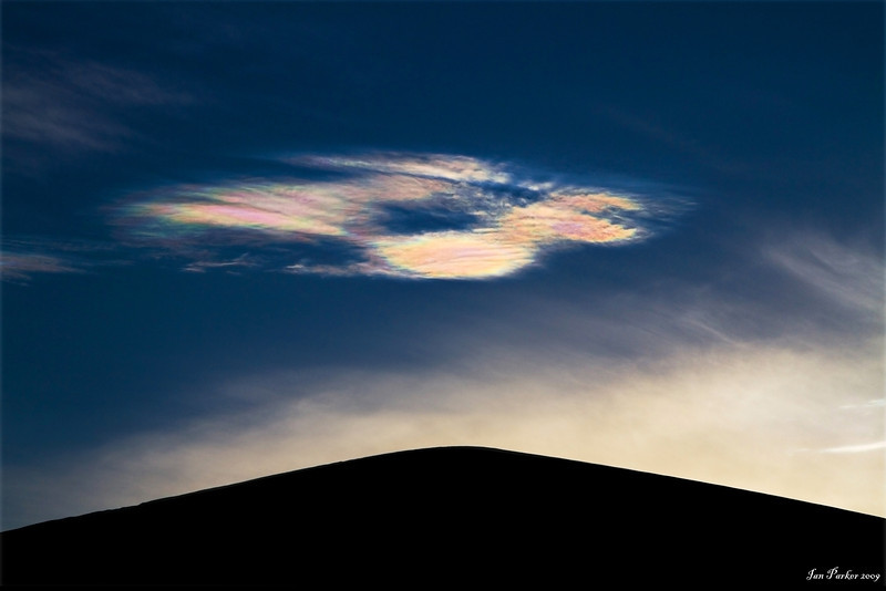 Polychromatic cloud: Hidden dunes, Eureka Valley, California