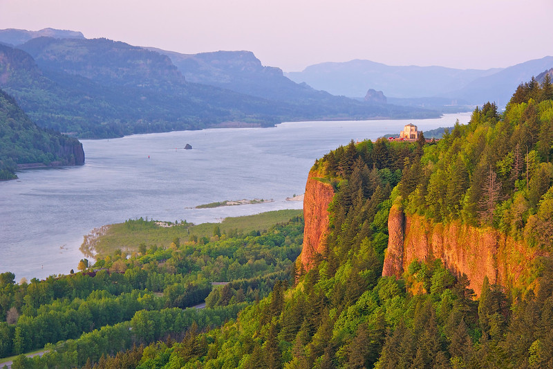 Crown Point, Columbia River Gorge at sunset