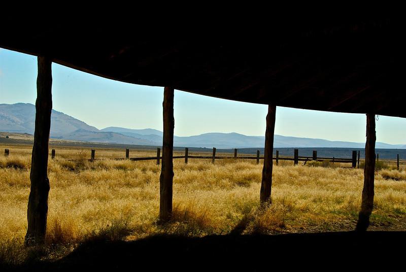 "Historic ""Round Barn"" in Eastern Oregon"