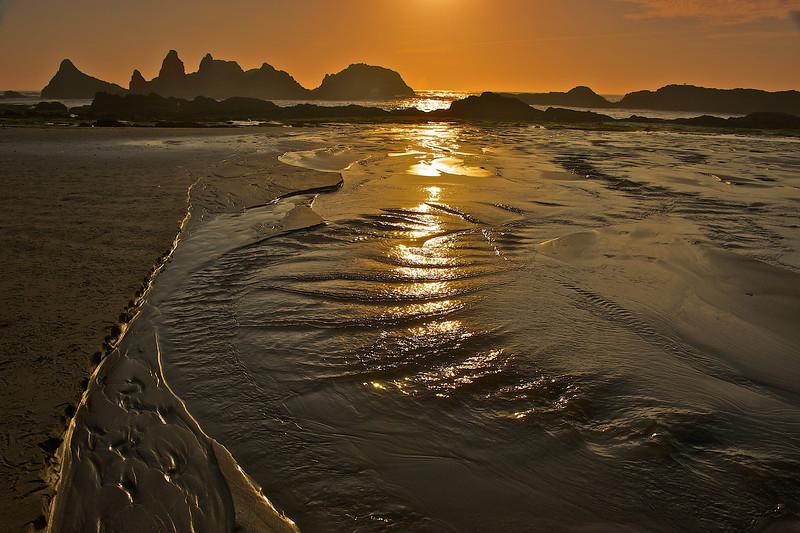 Seal Rock Beach sunset.