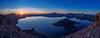 Panorama of Crater Lake at Sunrise