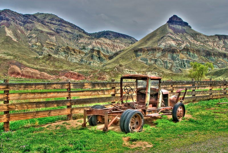 Old farm truck near the Painted Hills