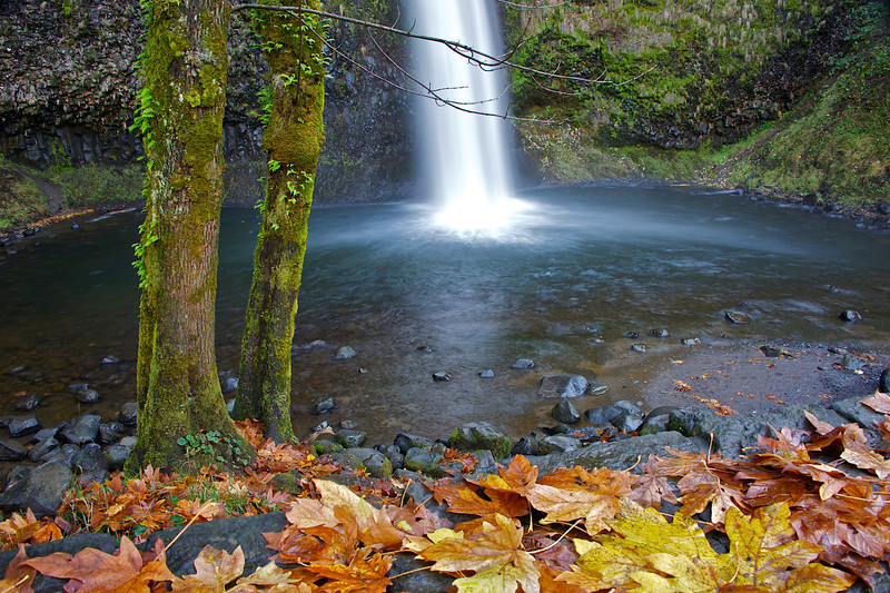 Horse Tail Falls in the Columbia Gorge, Oregon