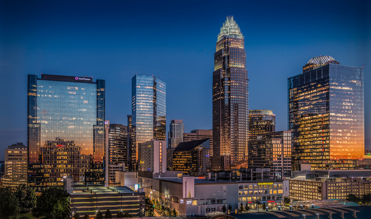 Downtown Charlotte at Sunrise