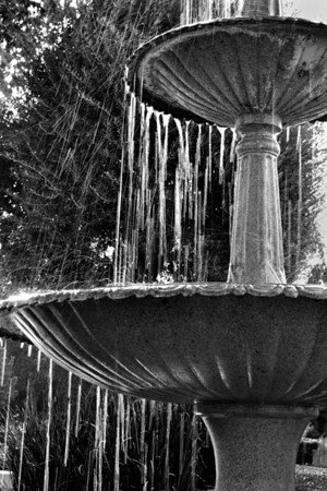 The fountain at the old Pine Street School.