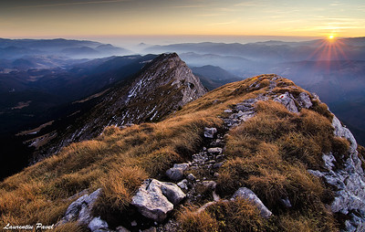 Stay with me  Sunset view from Piatra Craiului ridge