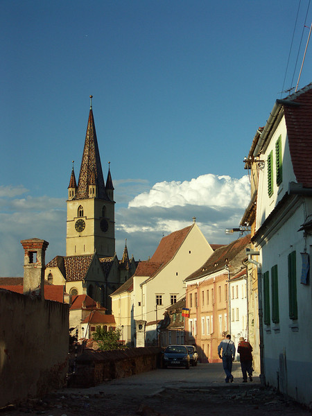 Protestant Church and Strada Centumvirilor, Sibiu, Romania