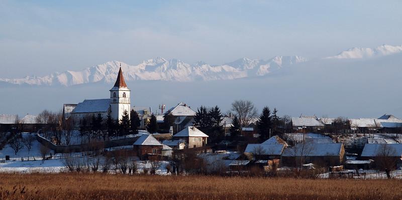 German village against Fagras Mountains... 2008