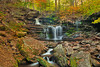 2013<br /> Ricketts Glen in PA <br /> <br /> approximately 13 waterfalls .. a HIKE !!  because for every precarious foot you go down - you have to climb back up on the other side ..  not for the extreme young or old and please be in better shape than me ;)<br /> <br /> This was September .. a week late on foliage - but the week before when foliage was peak - there was no water .. so we lucked out and I think hit the best weekend !!