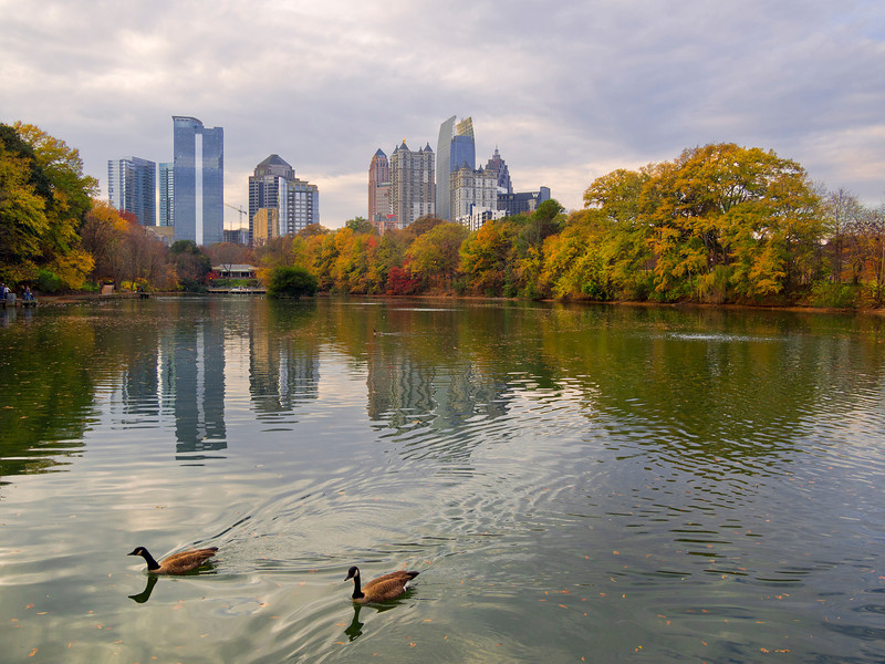Midtown, across the Lake at Piedmont Park