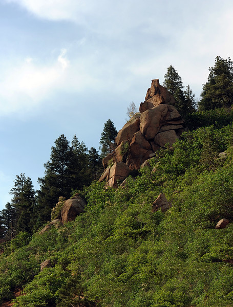 Rock outcropping in Colorado Springs, Colorado 8637b