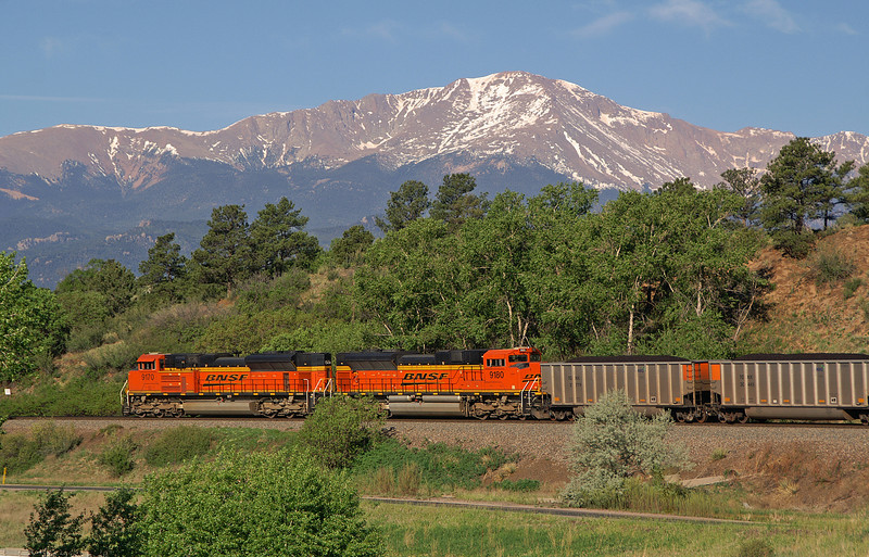 In this photo I combined two of my favorite subjects, trains and Pikes Peak. Taken on a beautiful Memorial Day.