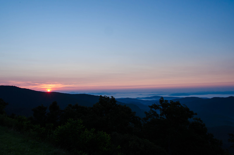Sunrise from the Blue Ridge Parkway