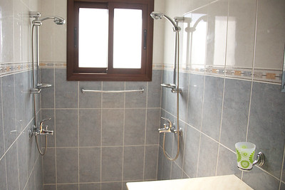 The downstairs double shower room - en-suite with bedroom one