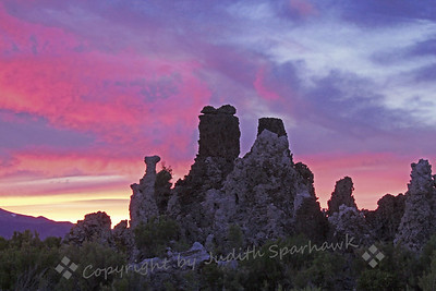 Tufa Towers in the Sky ~ Mono Lake offers many views, colors, textures, a feast for photographers.