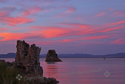 Mono Lake Sundown ~ After the sun set, the colors in the sky and on the water deepened, making a fabulous light show in the sky.