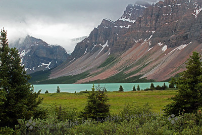 Glacial Landscape ~ Driving up the Icefields Parkway between Banff and Japer, views of lakes and glaciers abound.