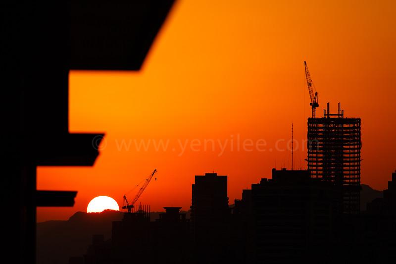 Sunset, Taipei.