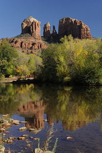 Cathedral Mountain from Oak Creek, Sedona, Arizona, October 29, 2008